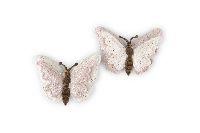 Schmetterling Eleganza ROSA-CREME-GLITZER 20421111 Streudeko 5cm Polyest. zweilag