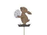 Holzstecker Hase mit Osterei NATUR 8,5cm 355627