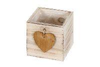 Schublade mit Herz natur-Vintage 37588 12x12x12cm Holz mit Folie