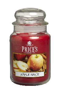 Duftkerze Price´s Candles APPLE SPICE im Glas Brenndauer: 110-150 h