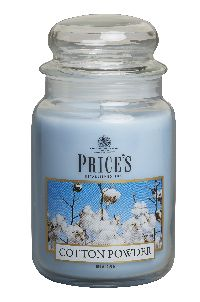 Duftkerze Price´s Candles COTTON POWDER im Glas Brenndauer: 110-150 h