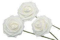 Rose Foam / Schaumrose WEISS 14 Ø7cm  80686