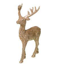 Hirsch Glamour GOLD-GLITZER 14x8x22,5cm  76826