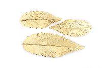 Feder zum Auffädeln GOLD 6424106 Metall 2Größen 7cm (24St.) + 10,5cm (16St.)