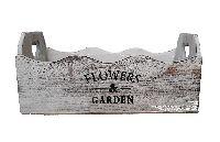 Pflanzkiste Flowers & Garden GRAU-WASHED 19850 32x13x10cm Holz mit Innenfolie